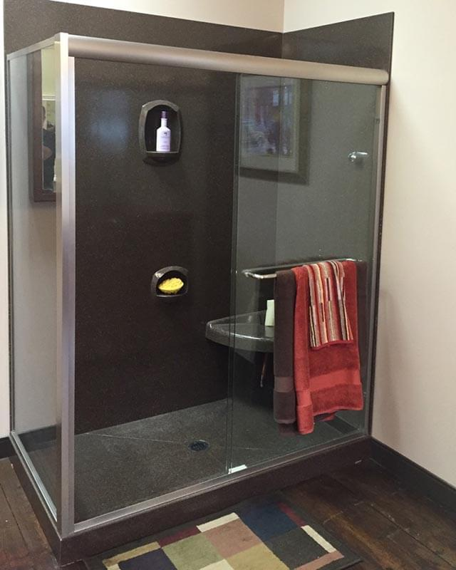 Charcoal Walk-in Shower